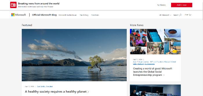 Ismert szoftver weboldala