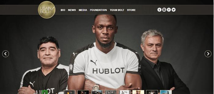Híres sportoló weblapja